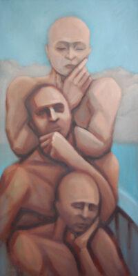Oil on Canvas Framed size: 100 x 50cm £1,075