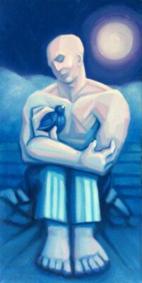 Oil on canvas Framed size: 80 x 40cm £950