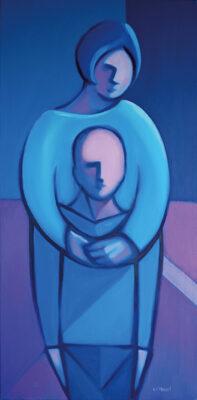 Oil on Canvas Framed size: 100 x 50cm £950