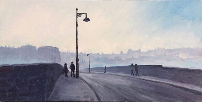 Crossing the Dean Bridge, Edinburgh on a Misty Winter's Day