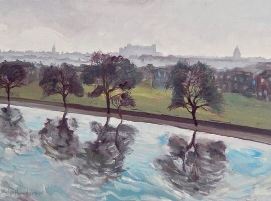 Edinburgh Skyline from Inverleith Park