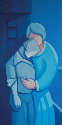 Oil on Canvas Framed size: 100 x 50cm £875