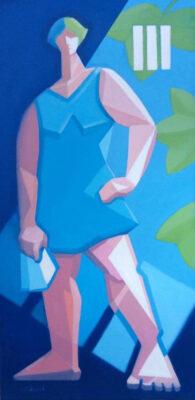 Oil on Canvas Framed size: 80 x 40cm £650