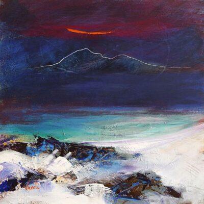The Cuillin Sun-Setting At The Cuillin - Skye- Skye