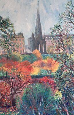 The Walter Scott Monument, Edinburgh Autumn