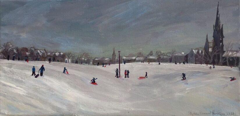 Winter Scene, The Meadows, Edinburgh 2021